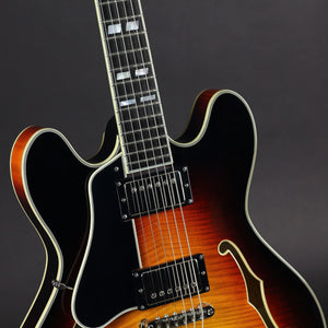 Eastman T486SB LH Left-handed Thinline - Sunburst - Mak's Guitars