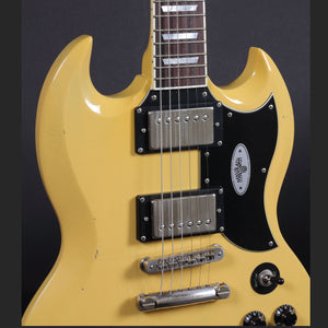 Maybach Albatroz '65 2-PAF TV Yellow Aged #204596 - Mak's Guitars