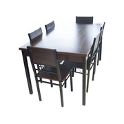 Dining Table + Chair 150x90/A88/B88 (1+6) Wallnut