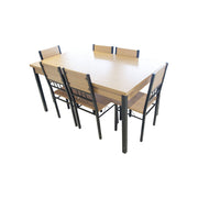 Dining Table + Chair 150x90/A88/B88 (1+6) Yellow