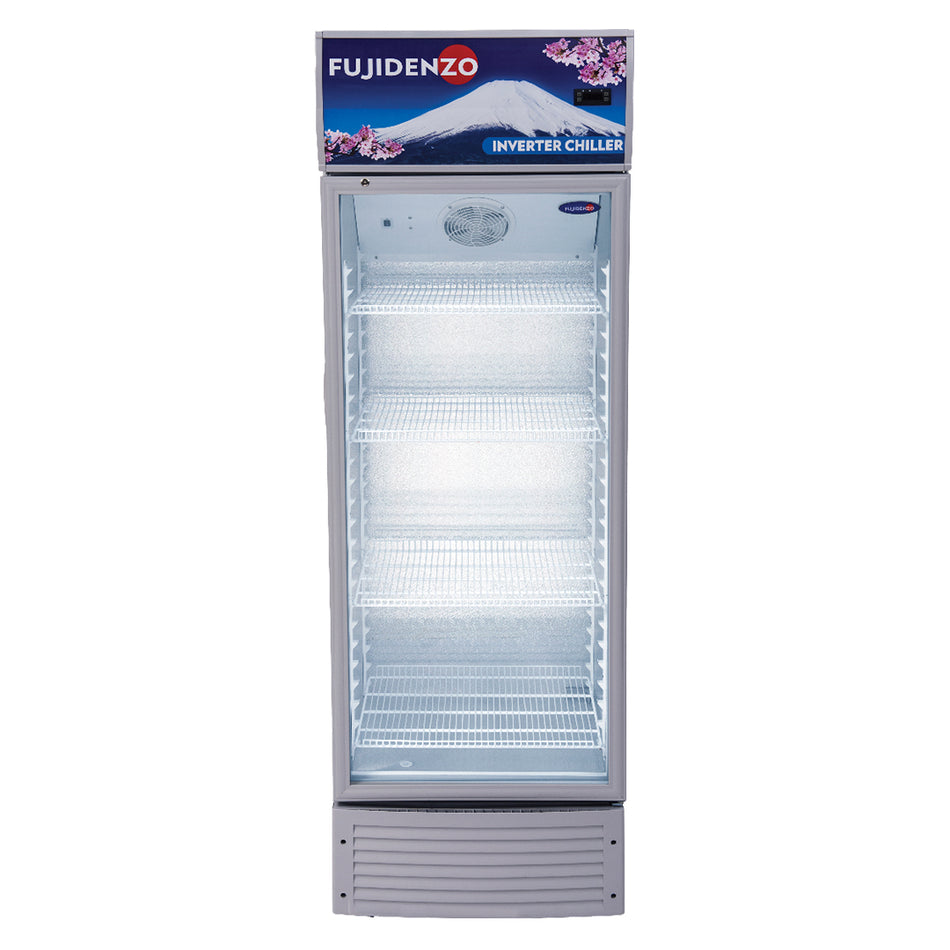 Fujidenzo Upright Chiller 14.0Cuft. Inverter Technology, 4 Adjustable Wire Shelves - ISU-140A