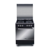 Fujidenzo Cooking Range 60cm 4 Gas Burner, Cast Iron, Rotisserie, Gas Oven - FGR-6640VTRCMB