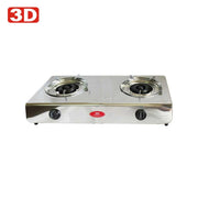 3D 2 Burner Gas Stove GS-5000B