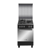 Fujidenzo 50x55 cm. Cooking Range, 2 Gas Burner + 1 Electric Hot Plate, Gas Oven w/ Rotisserie - FGR-5521VTRMB