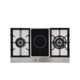 Whirlpool 90 cm Built-in Hob, 2 Gas + 1 Ceramic Burner, Cast Iron - AKC921C IX