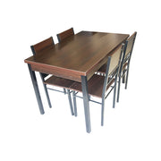Dining Table + Chair 120x75/A88/B88 (1+4) Wallnut
