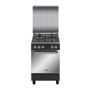 Fujidenzo Cooking Range 50x55cm 3 Gas Burner, Gas Oven, Thermostat Matte Black - FGR-5530VTMB