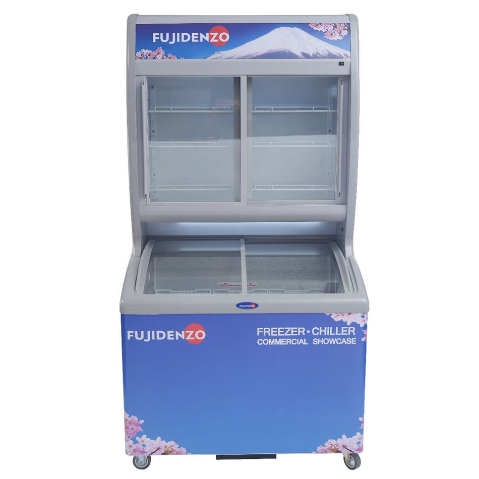 Fujidenzo Stacked Showcase 15.0Cuft. Dual Function Curved Glass - SUC-150ADF