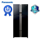 Panasonic Refrigerator 19.4Cuft. No-Frost Inverter 4 Door Glass - NR-DZ600GXPH