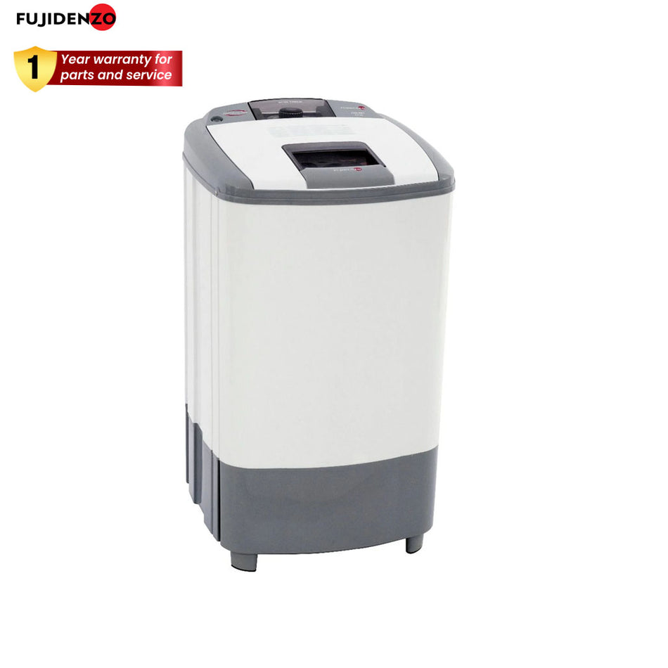 Fujidenzo Spin Dryer 8.0Kg. Stainless Steel Tub, Spin Timer Cover, With Air Dry Feature - JSD-801