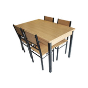 Dining Table + Chair 120x75/A88/B88 (1+4) Yellow