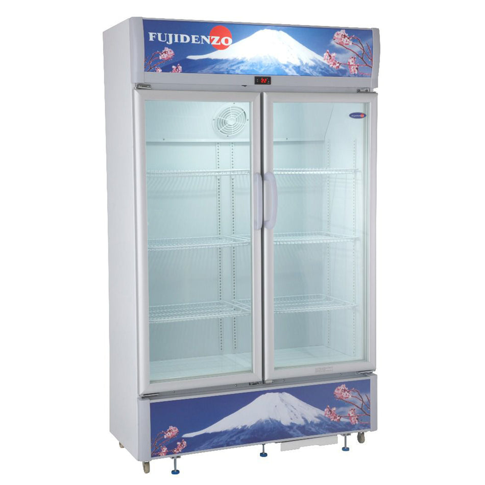 Fujidenzo Upright Chiller Bottle Cooler 22 Cuft. Double Door - SUD-220A
