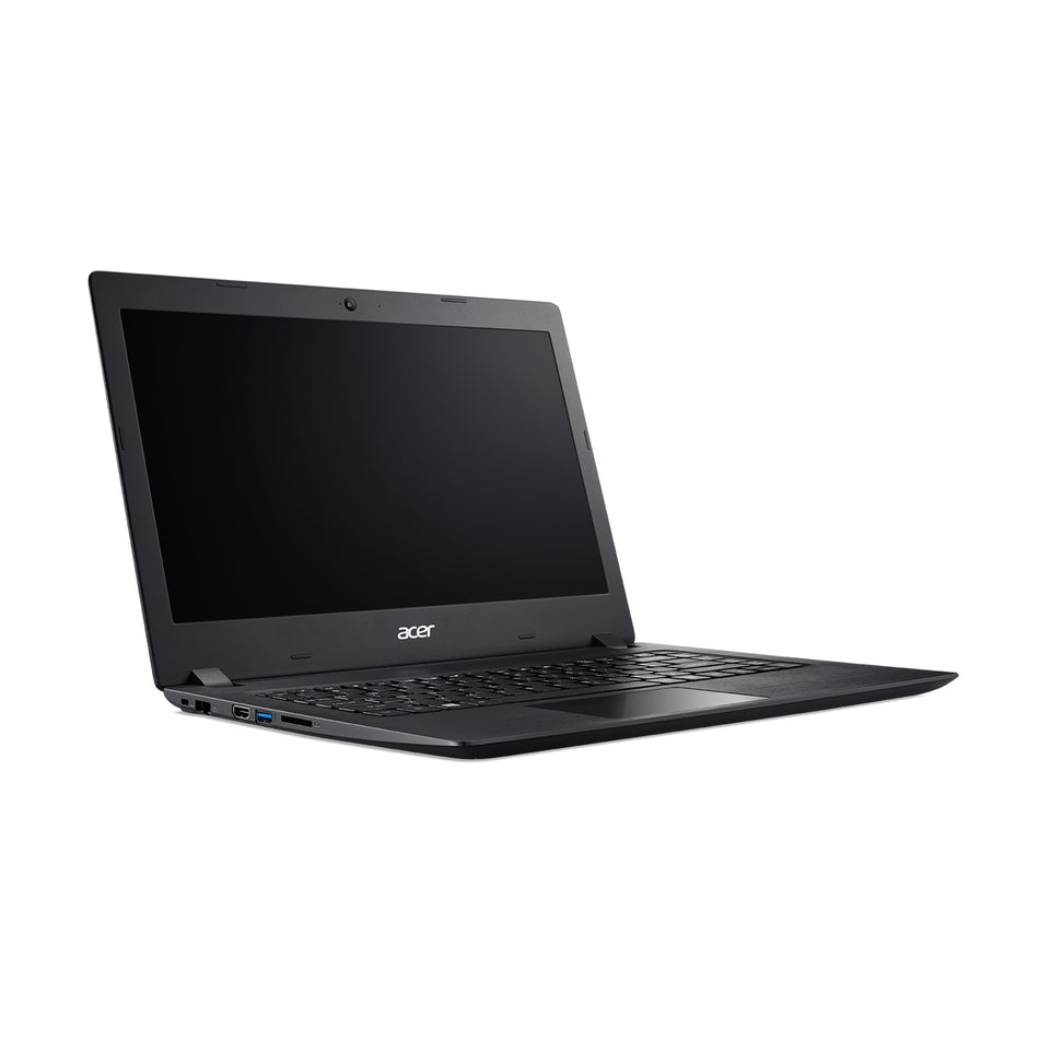 "Acer Laptop 14"" Celeron N4000, 4GB, 500GB+128SSD, Win10 - A314-32-C4H0/BLACK"
