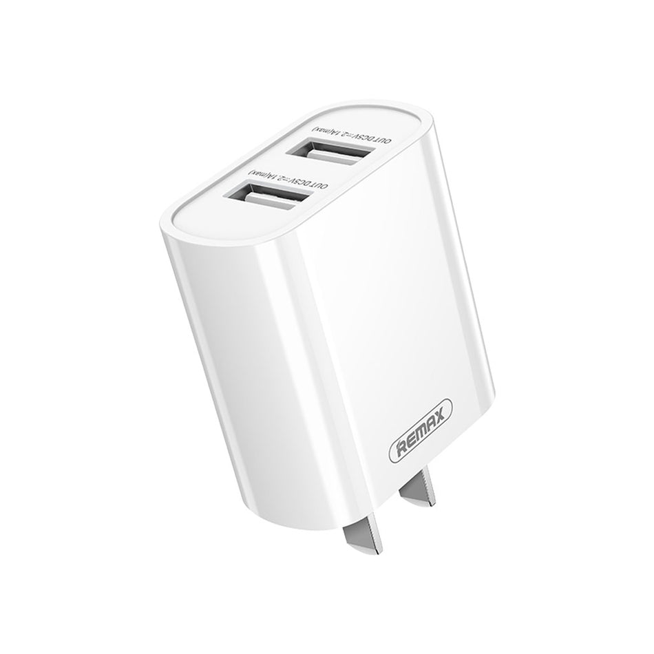 Remax Simple Series USB Charger Adapter CN - RP-U35 White