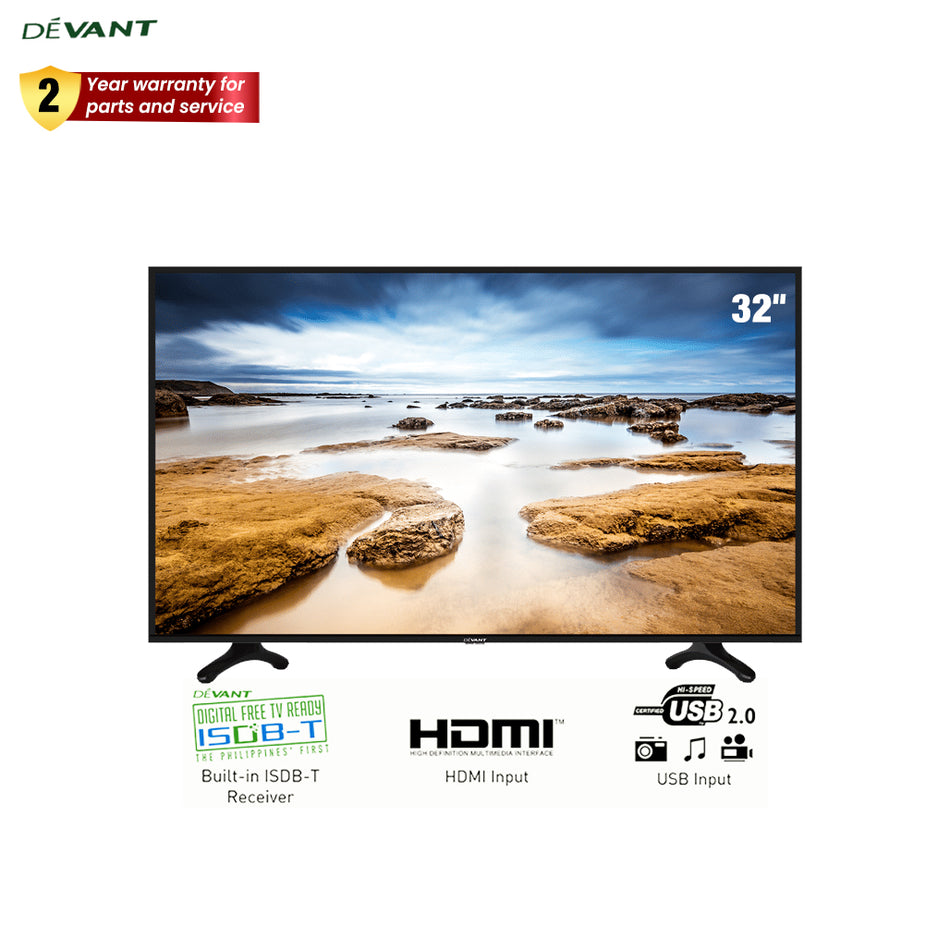 "Devant Television 32""  LED Flat Display with ISDB-T - 32DT001"