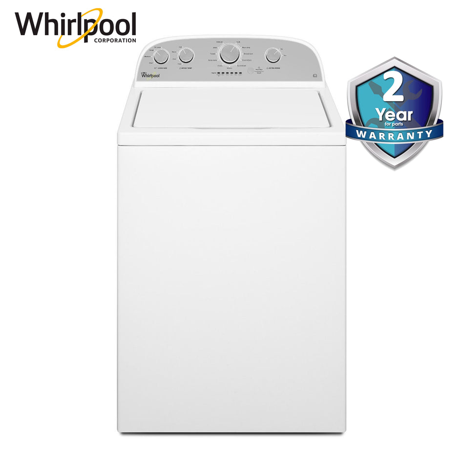 "Whirlpool Washing Machine Top Load 15.0KG. 27"" 6th Sense, Dual Action Spiral Agitator - 4GWTW3000FW"