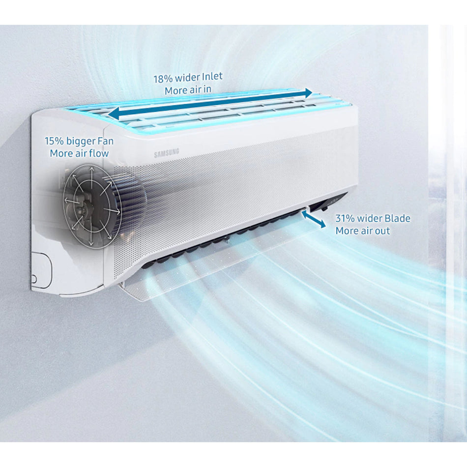 Samsung 2.0 HP Premium Inverter Wind-Free Plus Split Type Air Conditioner-AR18TYGCGWKN/TC