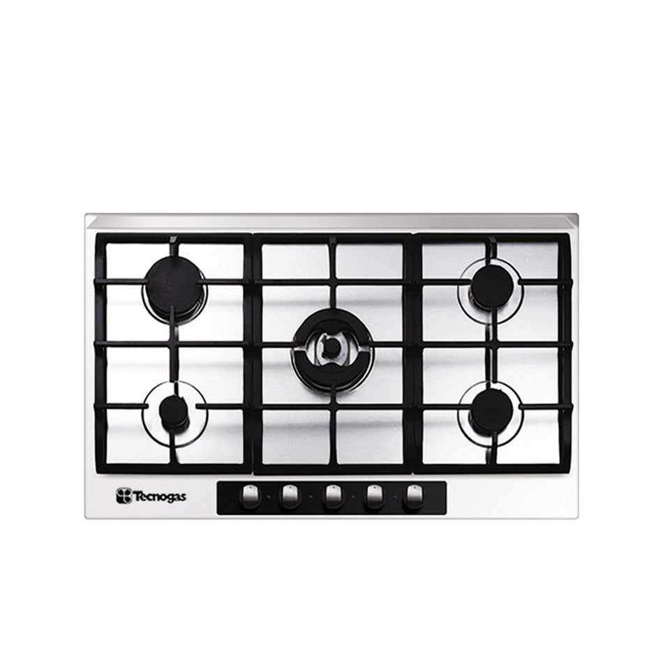 Technogas 5 Burners 90cm Stainless Steel Hob-TBH9050CSS