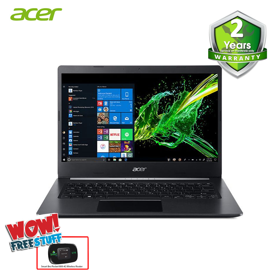 "Acer Laptop 14"" IPS, Intel Core i3-8130U 4GB, 1TB + 128SSD, Win10"