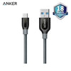 Anker PowerLine USB-C to USB-A 3.0 3ft/0.9m A8168 UN Gray