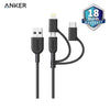 Anker Powerline II USB-A to 3 in 1 Charging Cable B2B Black - A8436H11