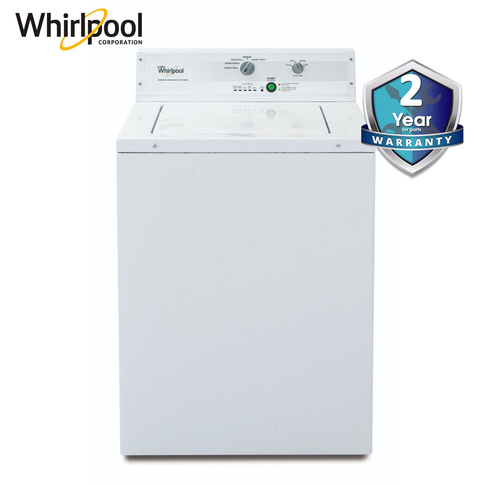 "Whirlpool Washer 11.0Kg. 27"" Energy Plus Commercial, Heavy Duty Panel, White Body - CAE2795FQ"