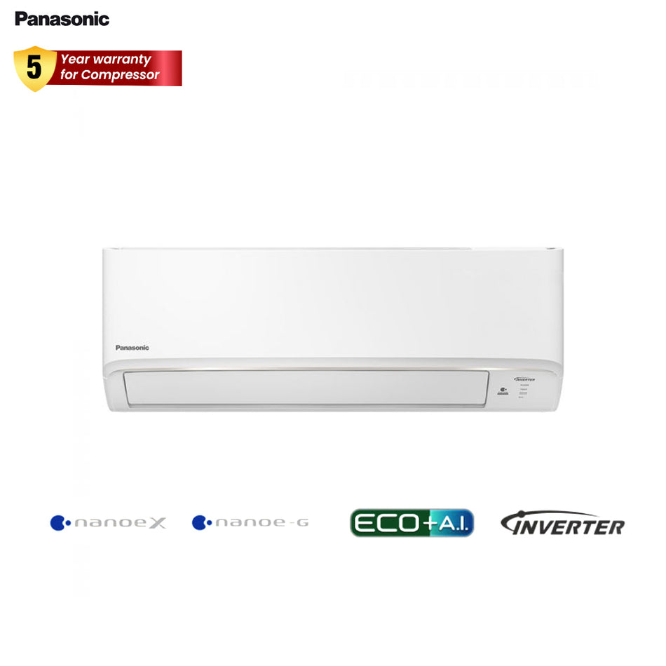 Panasonic Wall Mounted Split Type Aircon 2.0HP Deluxe Inverter Indoor Unit - CS-XPU18WKQ