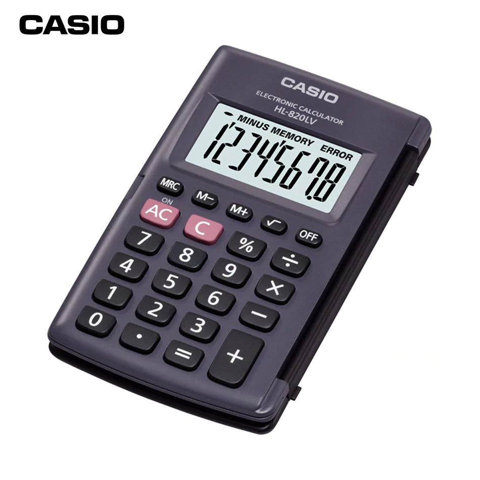 Casio Calculator HL-820LV-BK-W