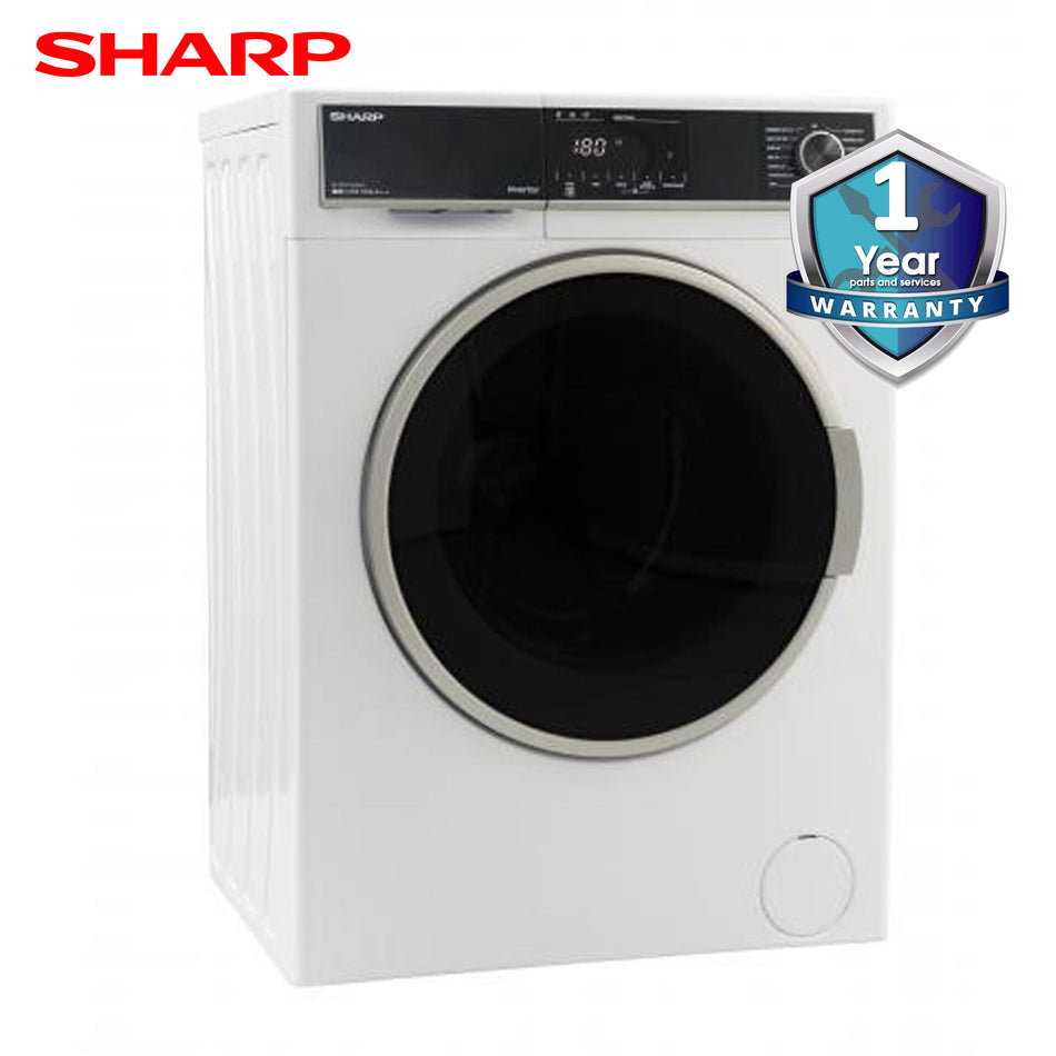 Sharp Washing Machine 7.0Kg. Fully Automatic Front Load Inverter - ES-FL0718W(SL)