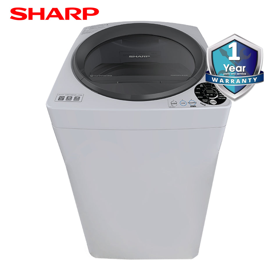 Sharp Washing Machine 7.5Kg. Fully Automatic Tempered Glass Lid - ES-V75HP-GY