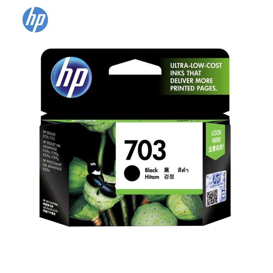 HP Ink Cartridge #703 Black