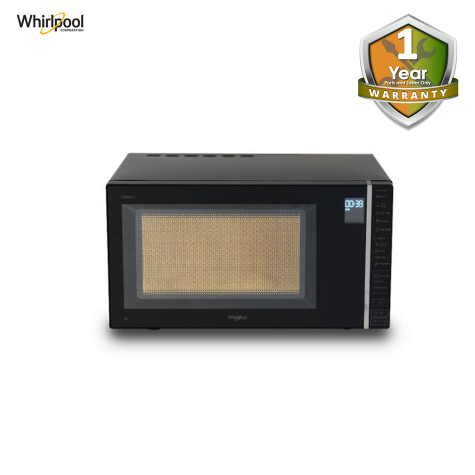 Whirlpool Microwave Oven Electronic Control 30 Liters Black W/ Mirror Door - MWP-301BL