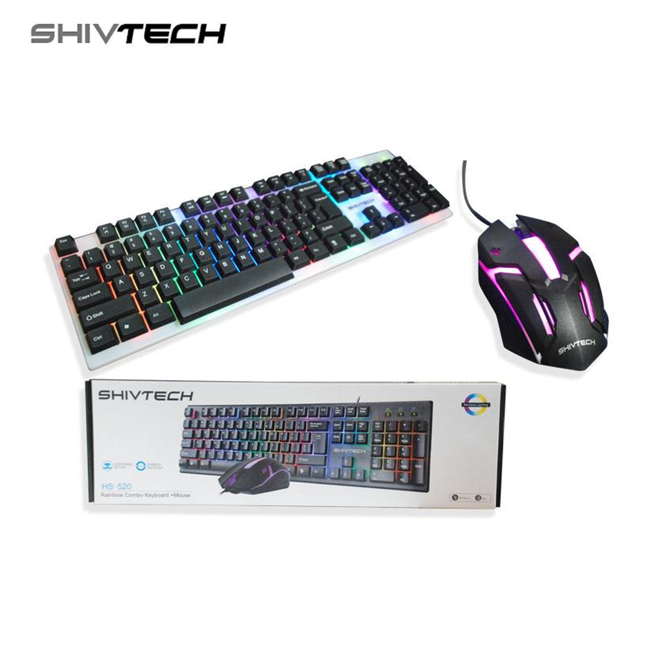 Shivtech Rainbow Combo Keyboard + Mouse HS-520