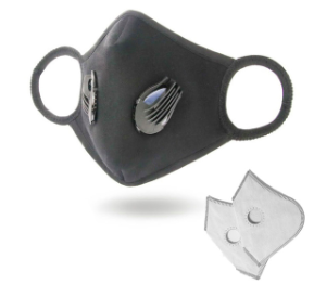 Dust Masks Reusable Washable Anti-Pollution Mask with N99 Filters