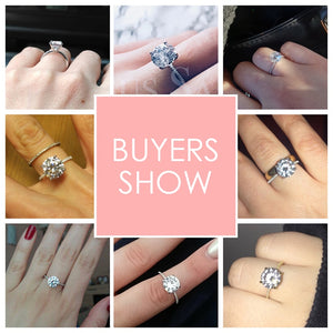 3 Carat Rings 100% Original 925 Solid Silver Diamond Wedding Rings For Women