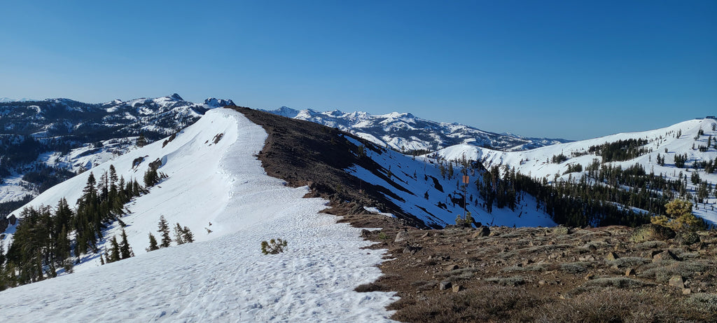 Judah Ridge, same as it ever was! Snow on the Northeast, have to walk over the ridge to traverse to Roller Pass right now.