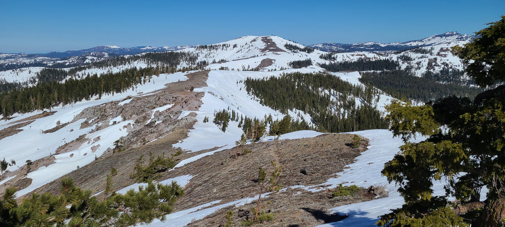 Looking back from the Mount Anderson Ridgeline toward Lincoln Peak.  Things are a little melted out, but still easily passable and where there is snow, the quality has been good!