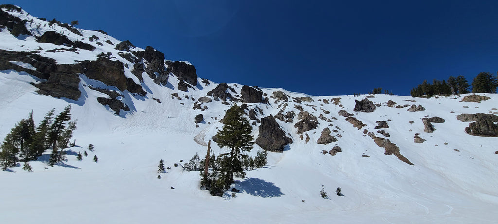 The top of Deep Creek Drainage.  Still enough coverage for another week of skiing!