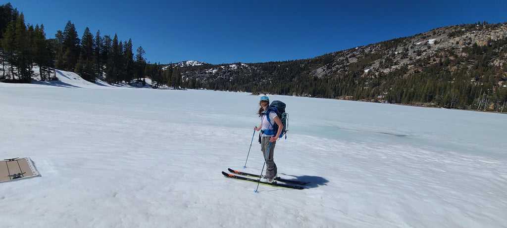 Lower Echo Lakes is still frozen over, but it's starting to melt out fast.  Lake crossing not recommended at this point!