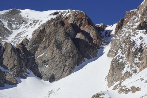 Cocaine Chute from it's base, Lee Vining Eastern Sierra ski mountaineering conditions report