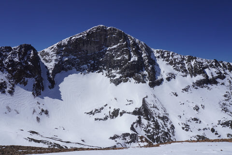 Mount Dana and the Solstice Couloir and Dana Couloirs offering up thinner than normal ski mountaineering conditions in California's Eastern Sierra