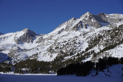 Pipsqueek Spire, Mount Dade and Treasure Peak in the Little Lakes Zone of the Rock Creek drainage in California's Eastern Sierra.
