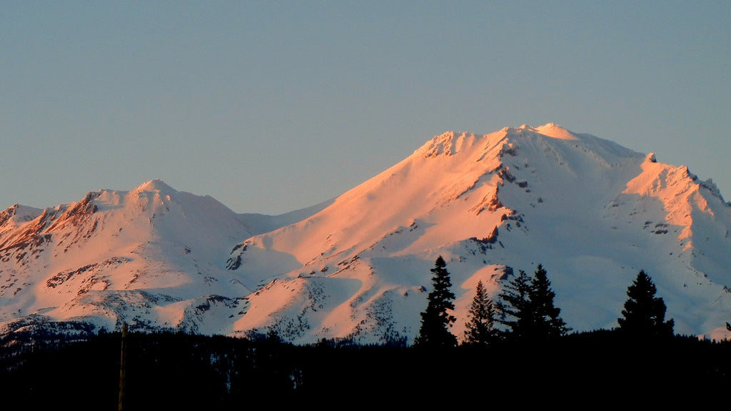 Mount Shasta the traditional homeland of the Shasta, Achumawi and Washoe Tribes.