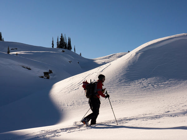 Backcountry skiing in the Lake Tahoe area during an AIARE avalanche course in Truckee
