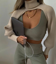 Load image into Gallery viewer, Women Turtleneck Sexy Short Sweater 2020 Fashion Ladies Full Sleeve Chic Female Streetwear