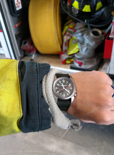 Best time piece pick for career firefighter on and off duty: Bertucci® Field Watch