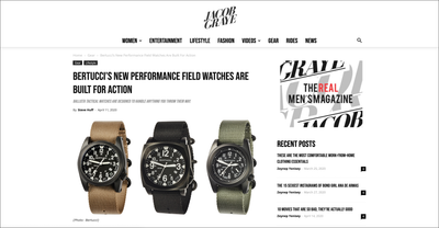 "JACOB GRAYE reviews Bertucci ""New Performance Field Watches Are Built For Action"""