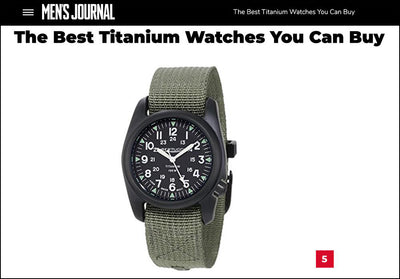 "Mens Journal: ""The Best Titanium Watches You Can Buy"""