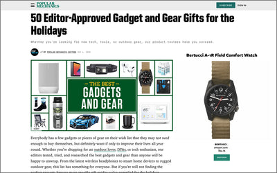 "Bertucci A-1R Listed on ""Popular Mechanics: Best Gadget and Gear Gifts for the Holidays"""