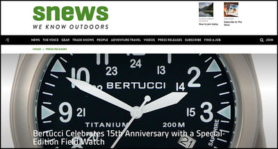 SNEWS: Bertucci Celebrates 15th Anniversary with a Special-Edition Field Watch